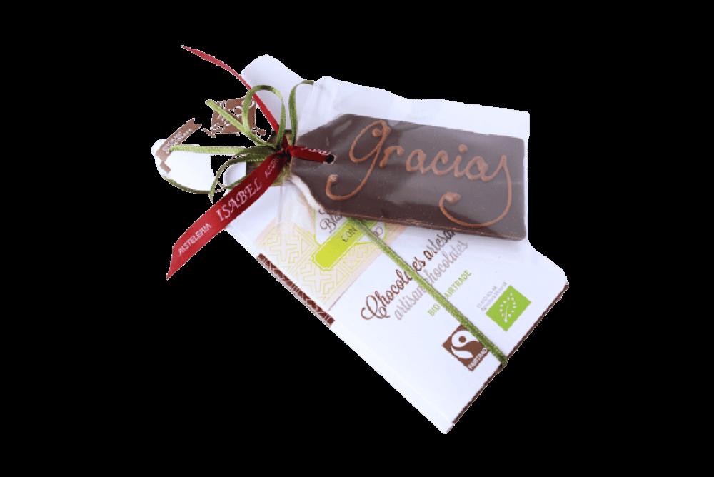 Lote nº 1 - 2 Tabletas de Chocolate BIO Variadas + 1 Tarjeta de Chocolate BIO