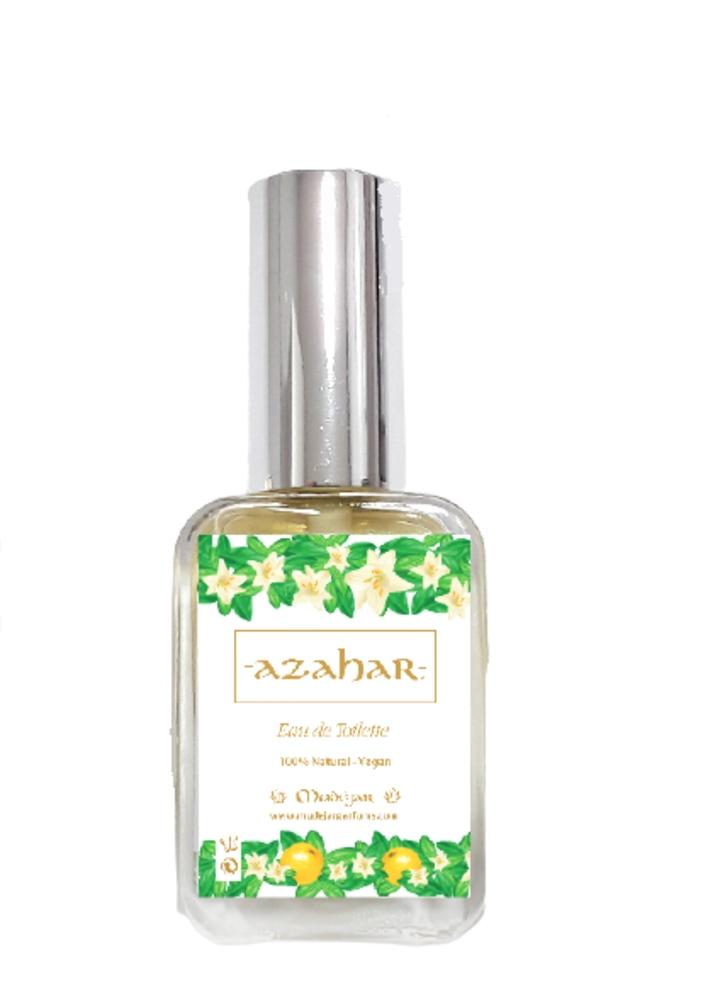 AZAHAR Eau de Toilette unisex 50 ml VEGAN 100% natural con aceites esenciales sin químicos vegano cruelty free