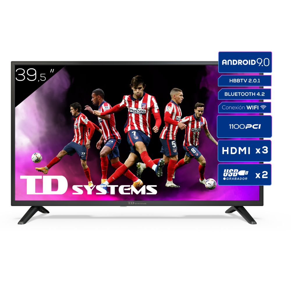 "Smart TV 39,5"" Full HD, Android 9.0, HbbTV, TD Systems K40DLJ12FS"