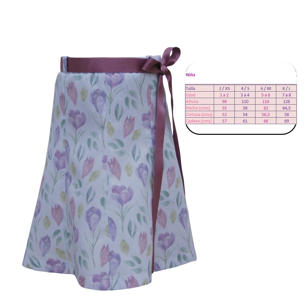 Falda estampada pique Nuria Buyolo