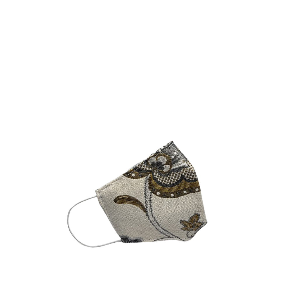 Bags de Tela Reusable Mask with Grey Arabesques