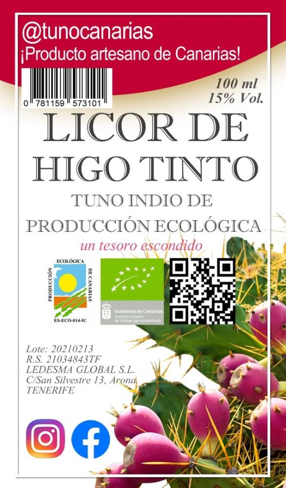 """Pack de 3 Licor Gourmet de Tuno Indio de producción Ecológica """"Chupito de Amor"""""""