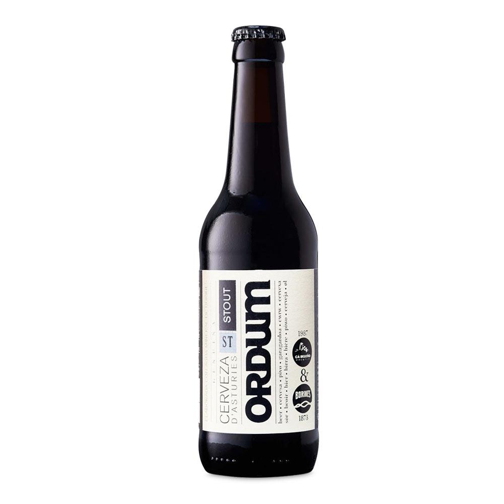 Cerveza craft Ordum Stout - Caja 12x 33 cl