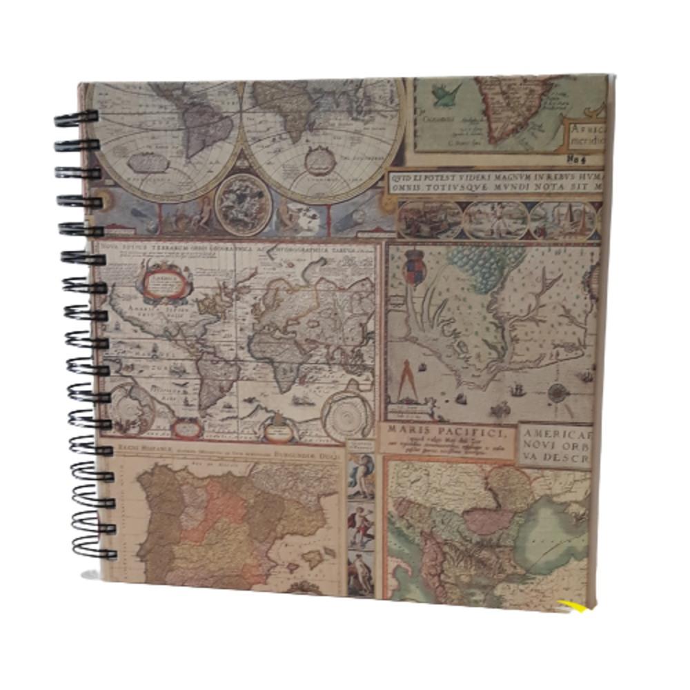 Libro en blanco cuadrado Mapas