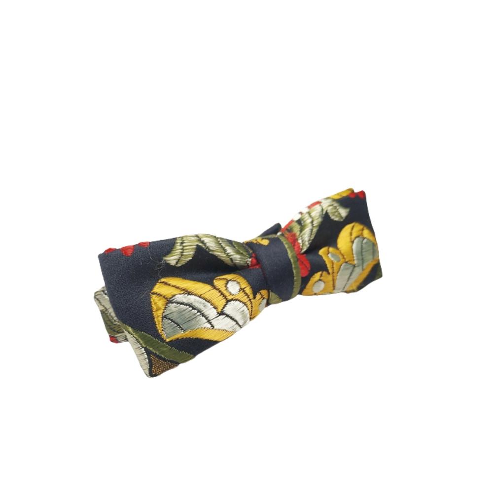 Pajarita Negra con estampado de colores
