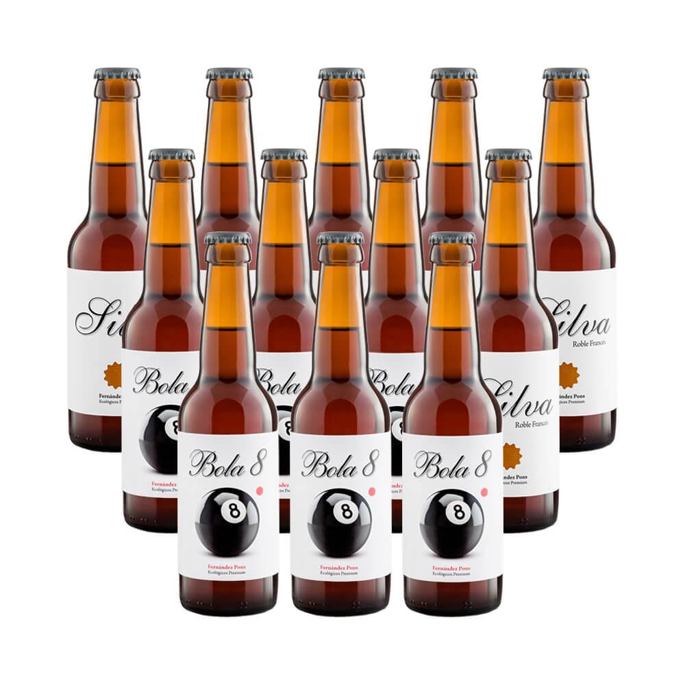 Cerveza tostada ecológica Bola 8 - 12 botellas 33 cl