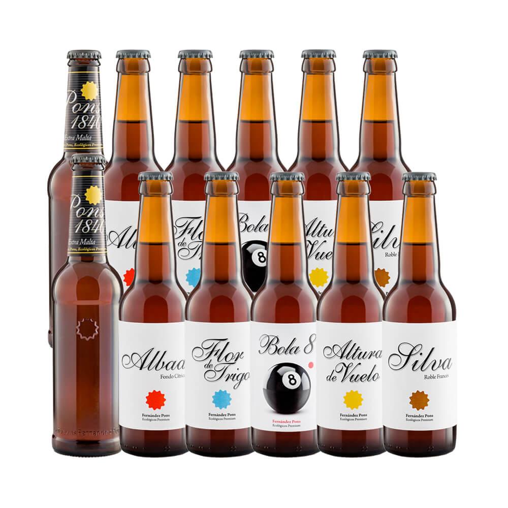 Pack mixto 12 botellas de cervezas Pons 33 cl
