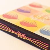 Cuaderno de viaje formato cuadrado - Globos