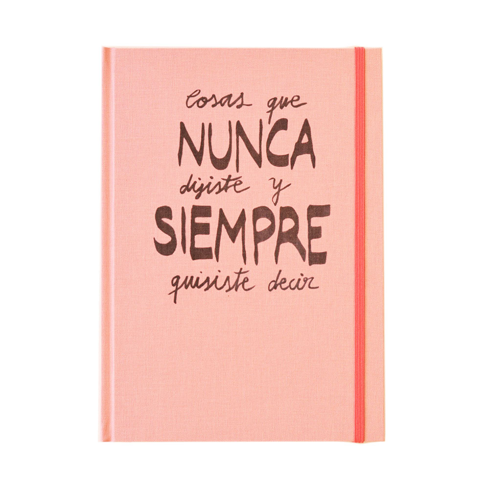 Cuaderno de notas con goma - Color rosa A5