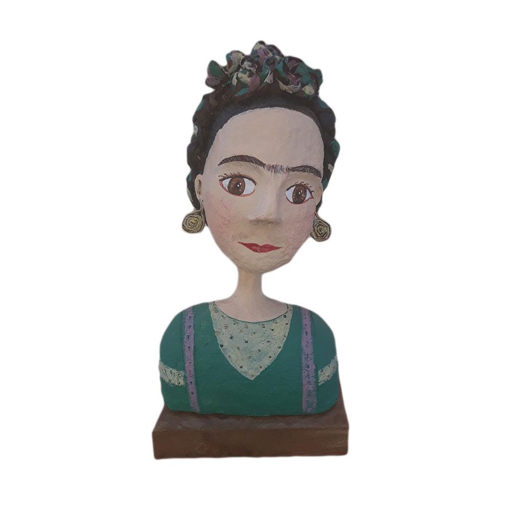 Frida Kalho en verde