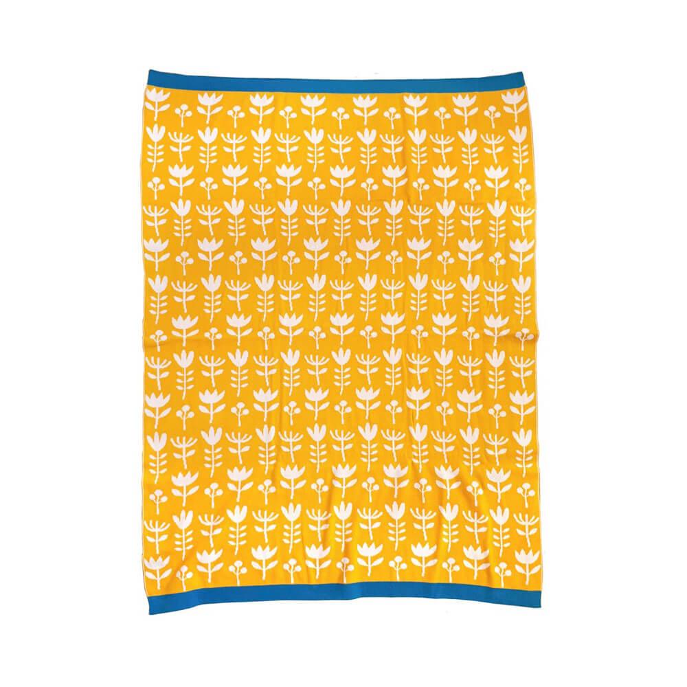 Manta amarilla de bebé en algodón egipcio 100% | Olula