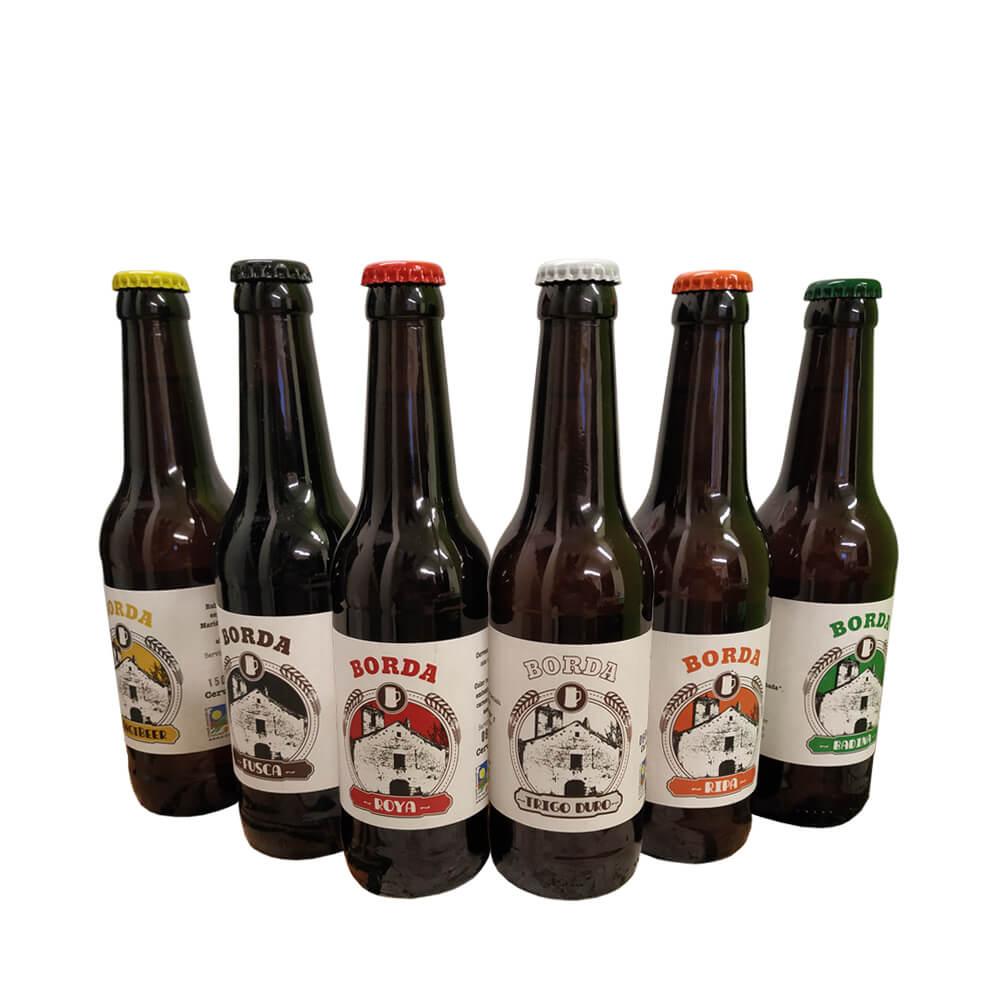 Pack degustación cervezas eco - 6x33 cl.