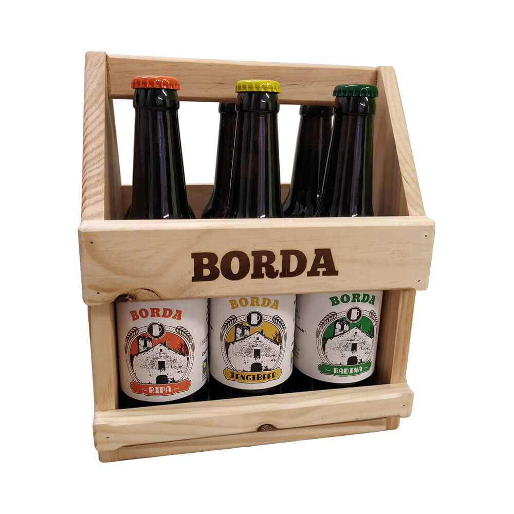 Pack regalo 6 cervezas artesanas eco.
