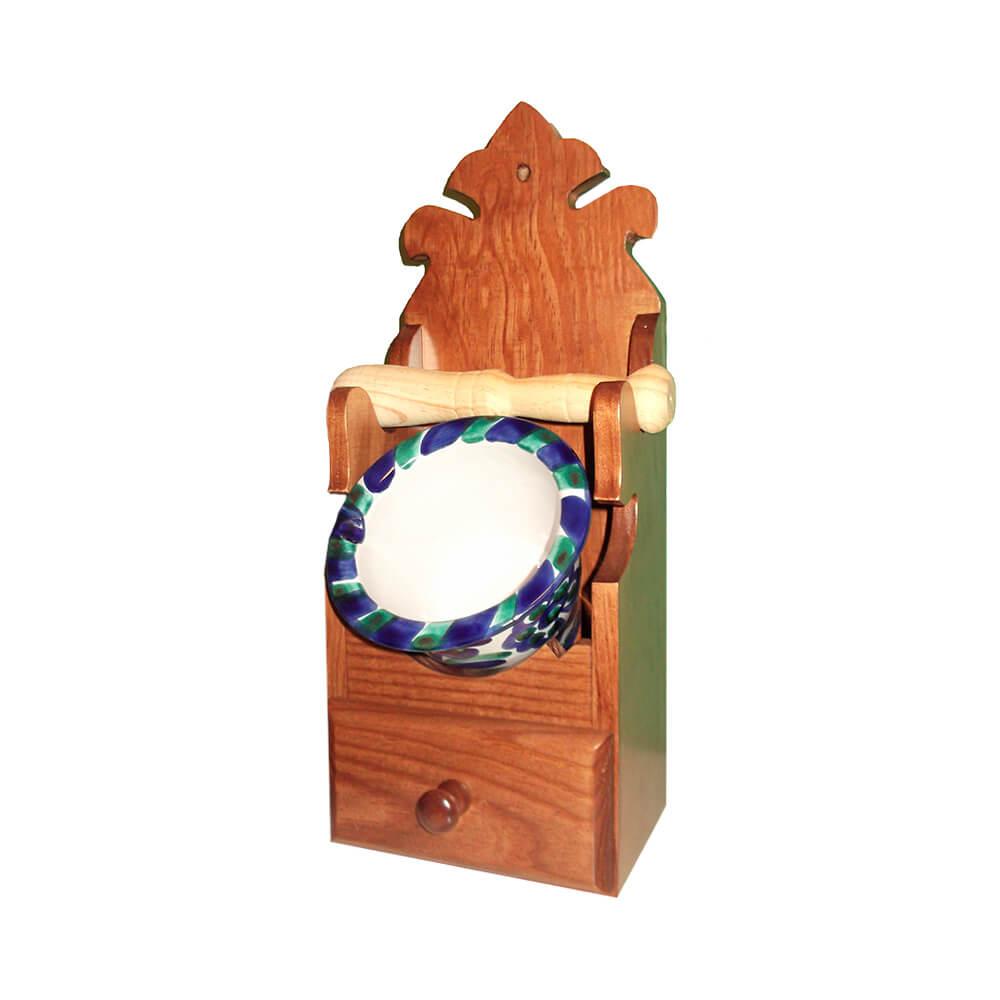 Mueble con almirez de cerámica granadina