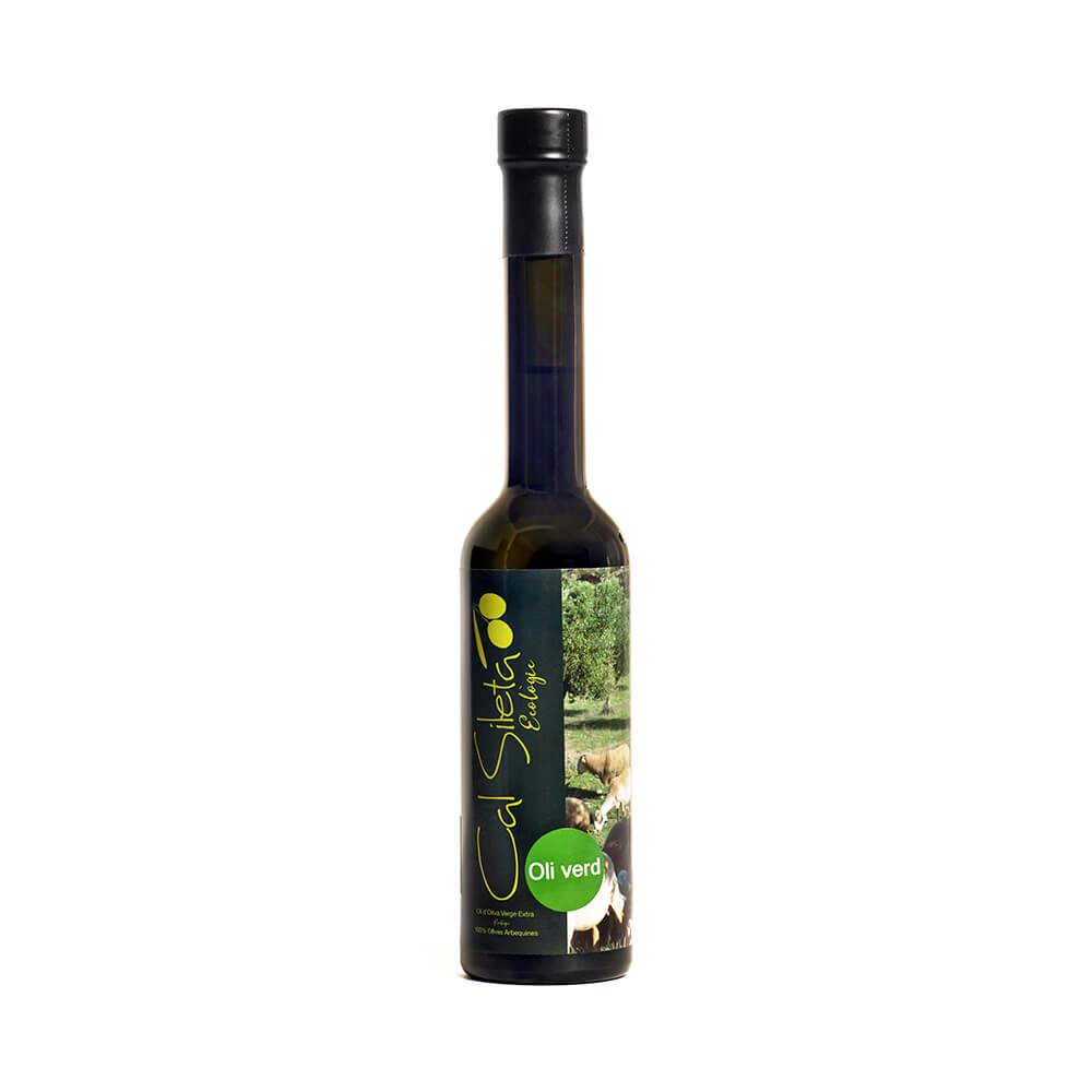 Botella de aceite ecológico Virgen Extra Verde de 0.25 litros.