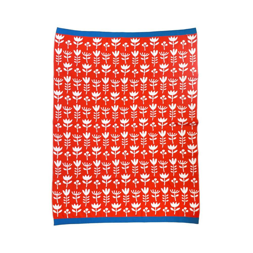 Manta roja para bebé en algodón egipcio 100%
