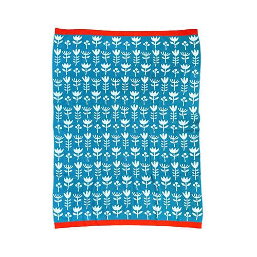 Olula Manta azul para bebé en algodón egipcio 100 %