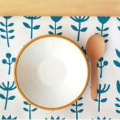 Olula Paño de cocina Wild Flowers - Azul
