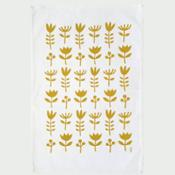 Olula Paño de cocina Wild Flowers - Amarillo mostaza