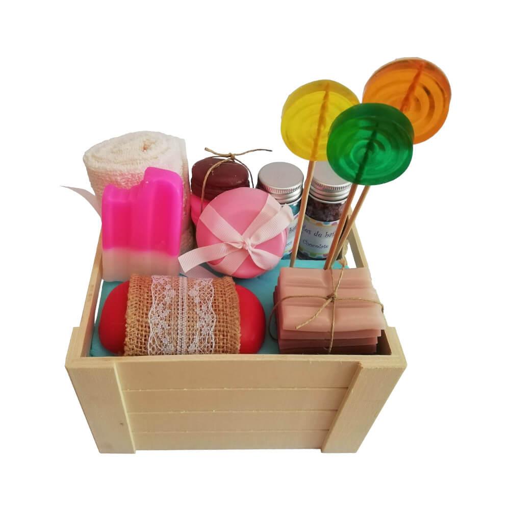 Caja Dulce - jabón, sal de baño y champú