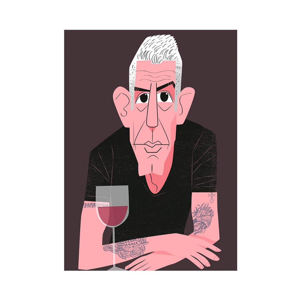 llustración de Anthony Bourdain