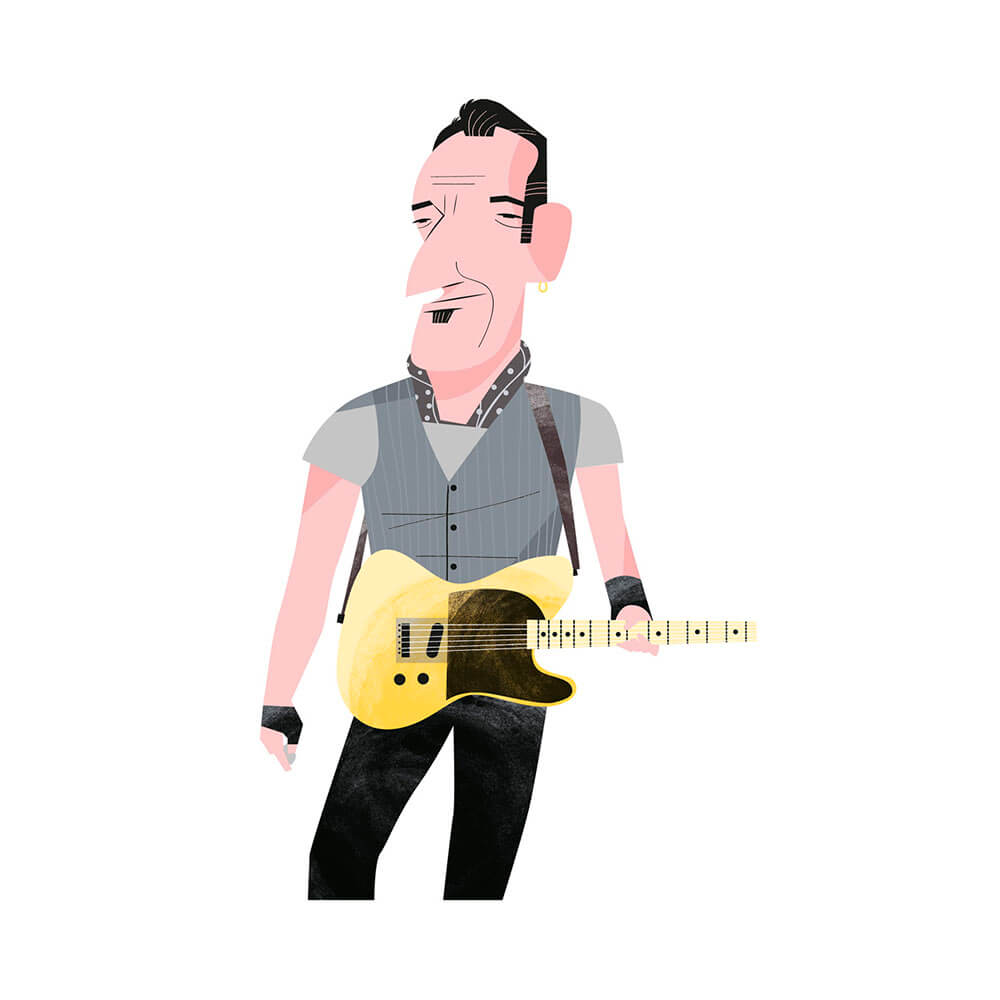 llustración de Bruce Springsteen