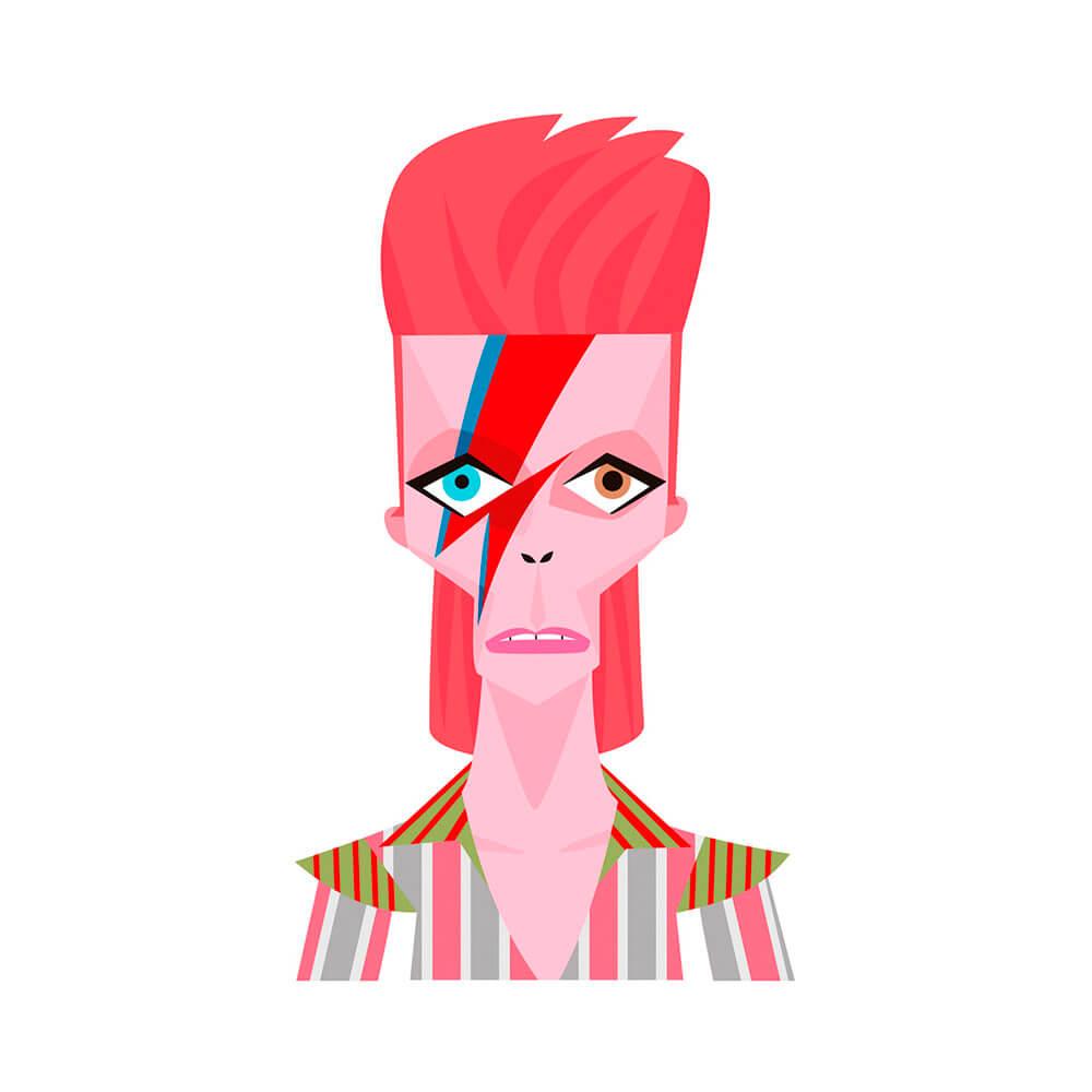 llustración de David Bowie