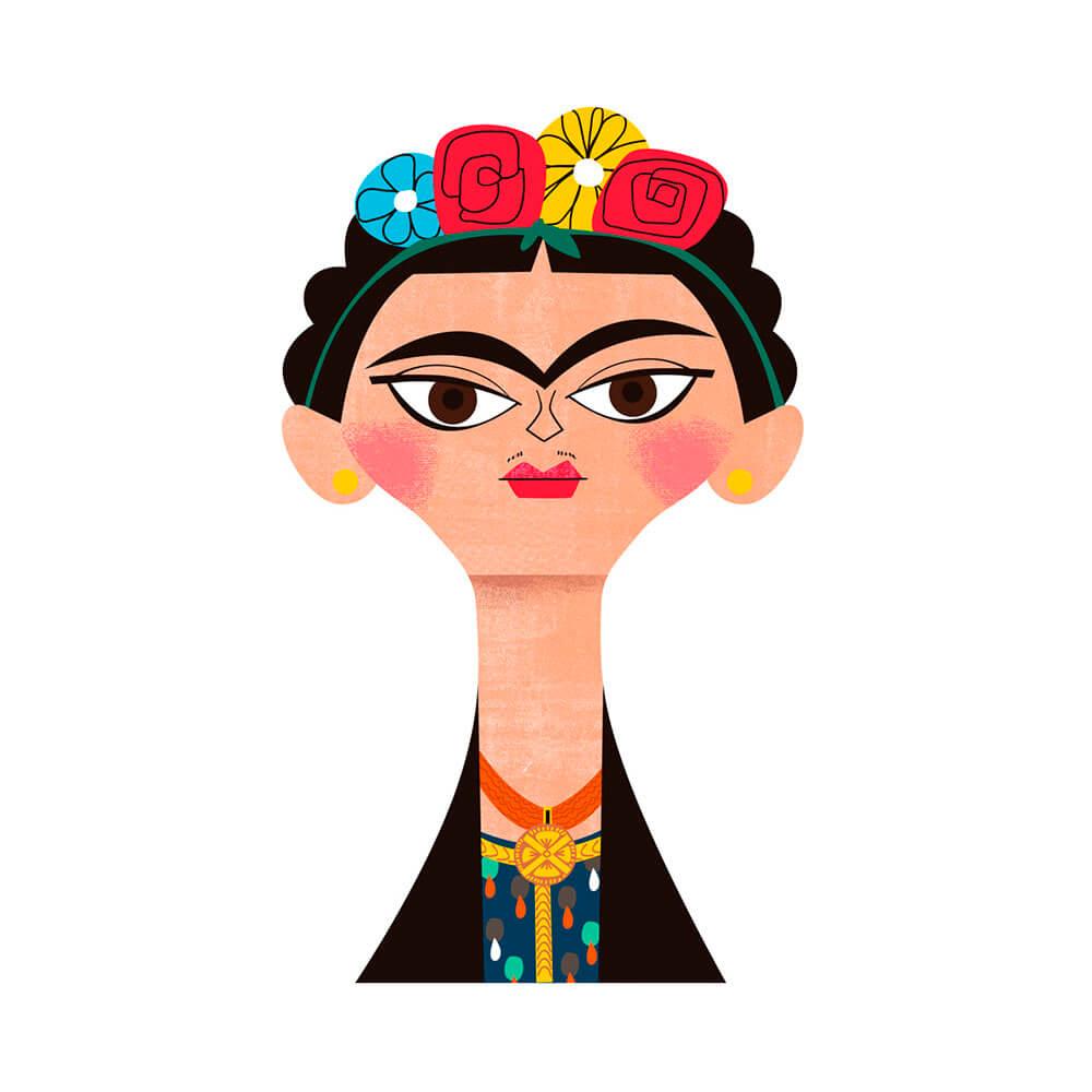 llustración de Frida Kalho