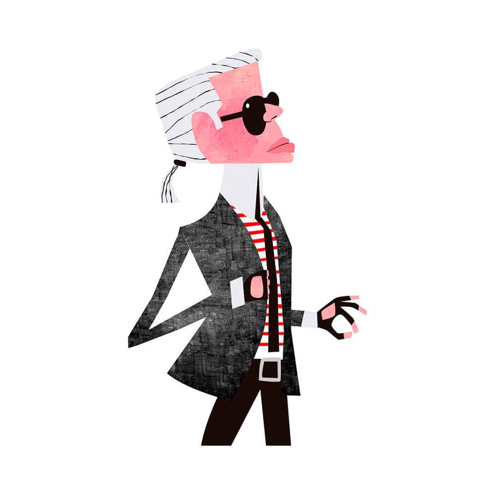 llustración de Karl Lagerfeld