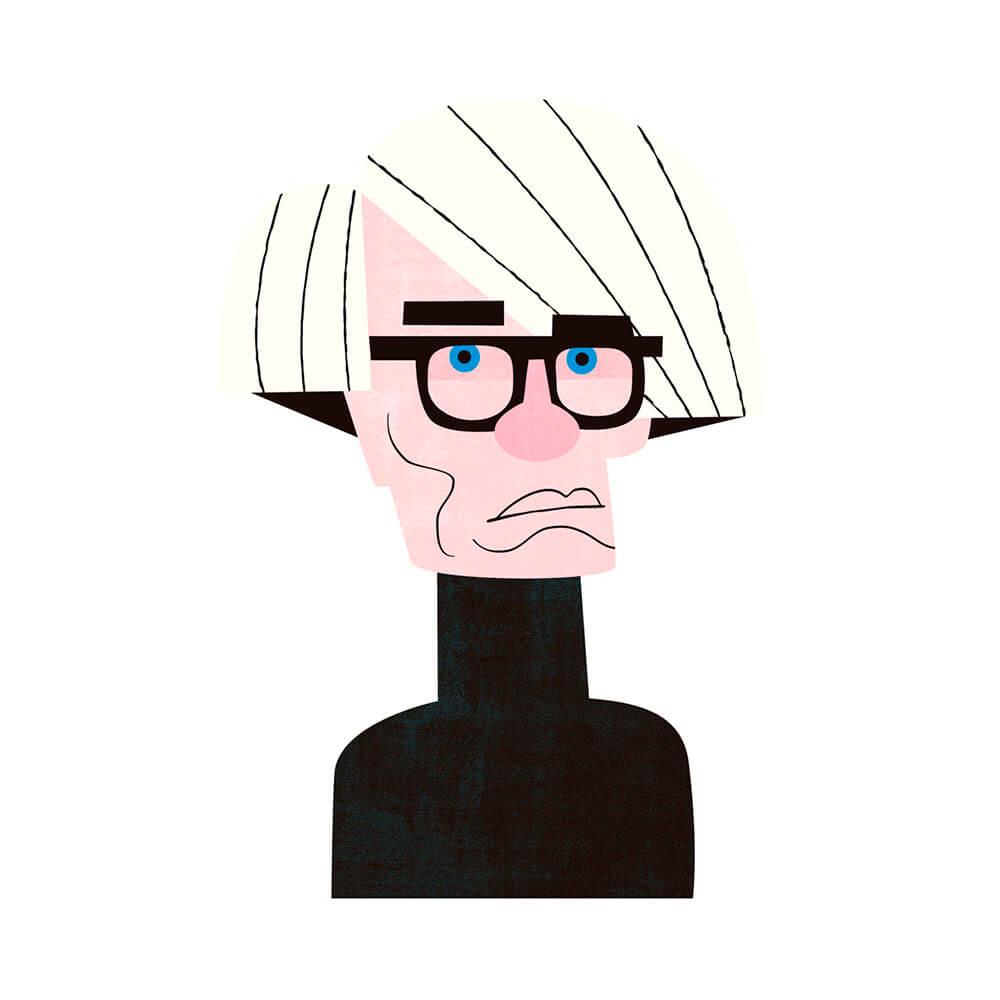 llustración de Warhol