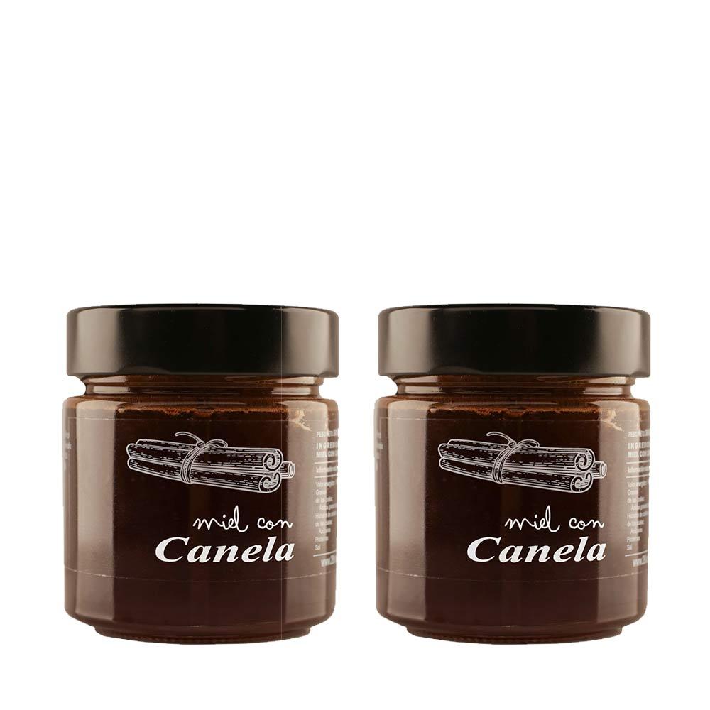 Miel con canela de ceylan 300 g - Pack 2 tarros