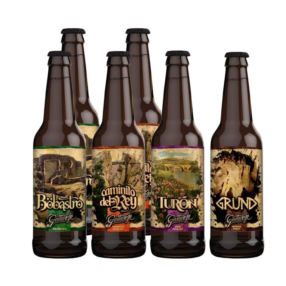 Cervezas Gaitanejo Pack 6 unidades mixto
