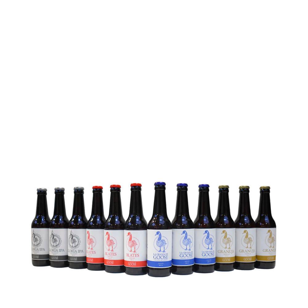 Caja de 4 variedades de cerveza artesana