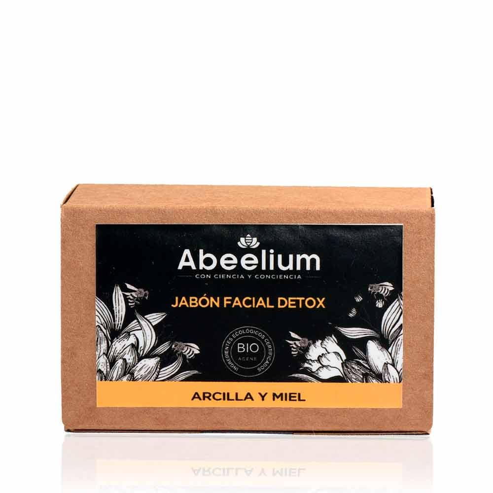 Jabón facial detox de arcilla y miel  - 100 g