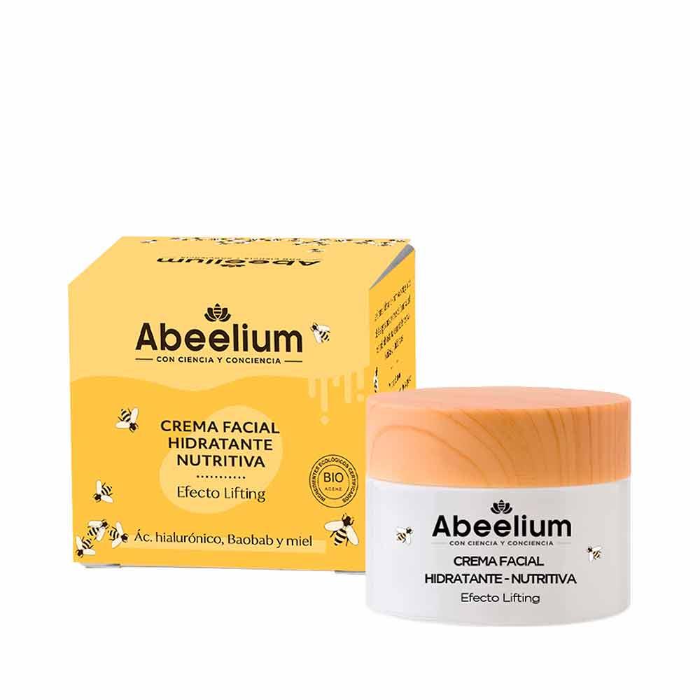Crema facial hidratante y nutritiva de ácido hialurónico, aceite de baobab y miel - 50 ml
