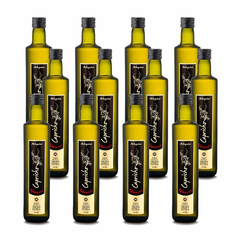 Aceite de oliva virgen extra Capricho botella