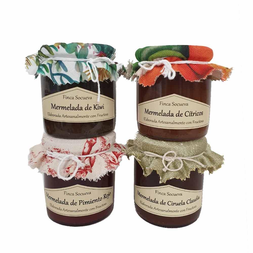 Pack tarros de mermeladas - 4x250 g