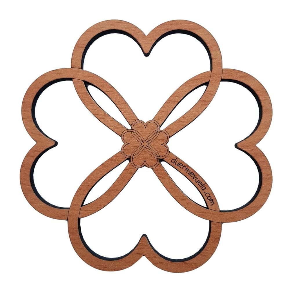 Posavasos de madera Corazón - set  6 piezas