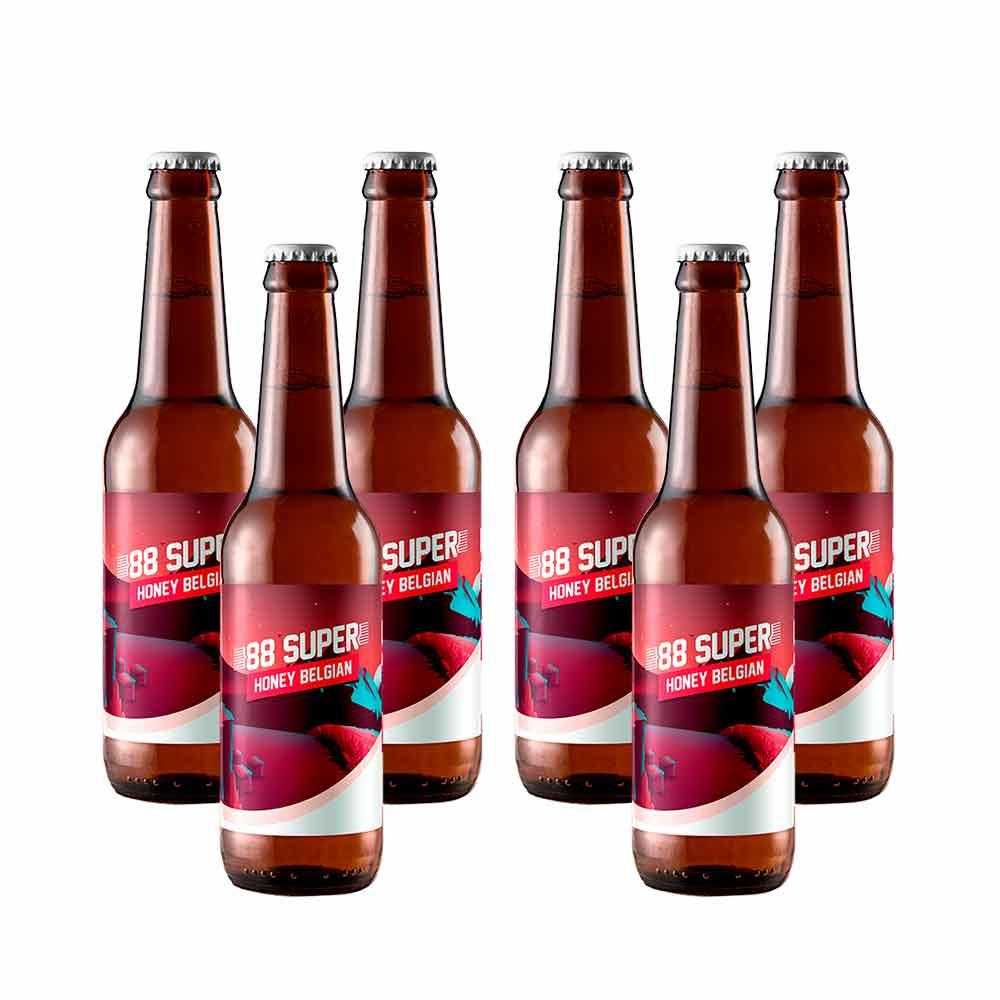 Cerveza 88 Super - Pack 6 unidades x 33 cl