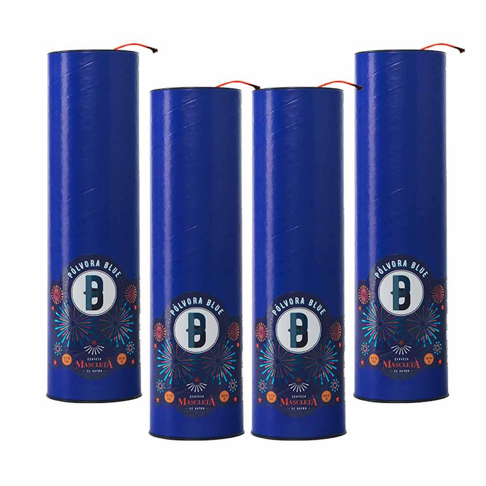 Tubos individuales Pólvora Azul - 4x33 cl