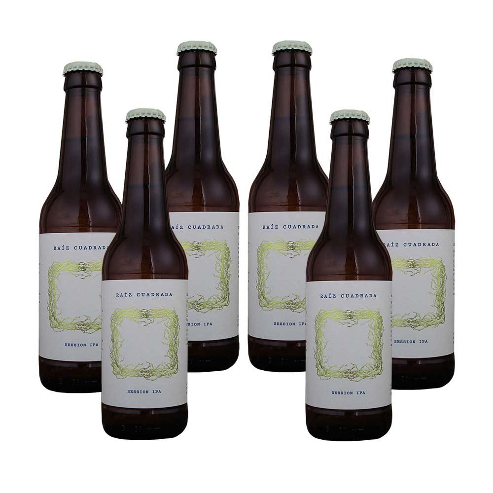 Cerveza Raíz Cuadrada Session IPA - Pack 6 botellas 33 cl