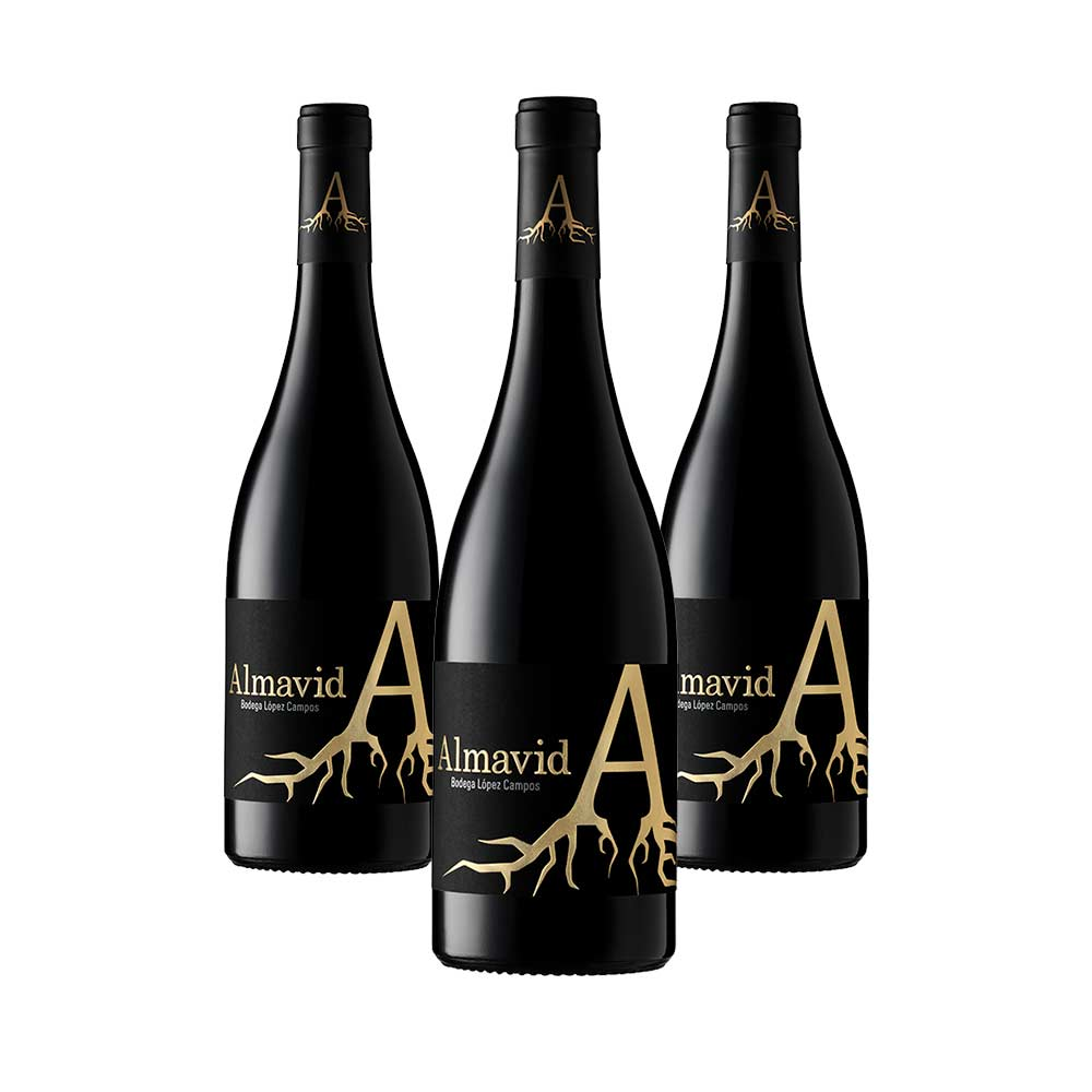 pack de 3 botellas de vino Syrah Crianza 2014 de Almavid