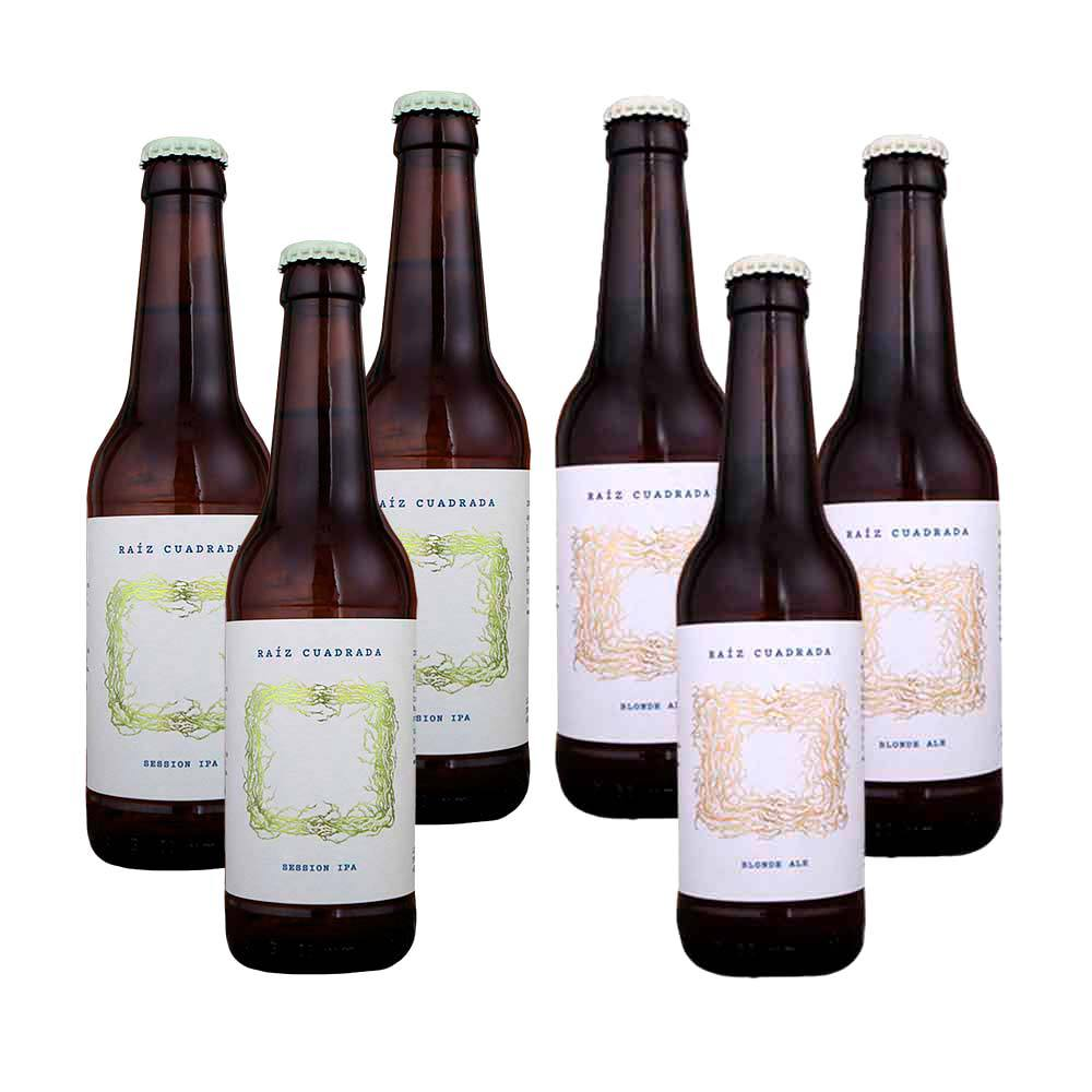 Cerveza Raíz Cuadrada - Variado - Pack 6 botellas 33 cl