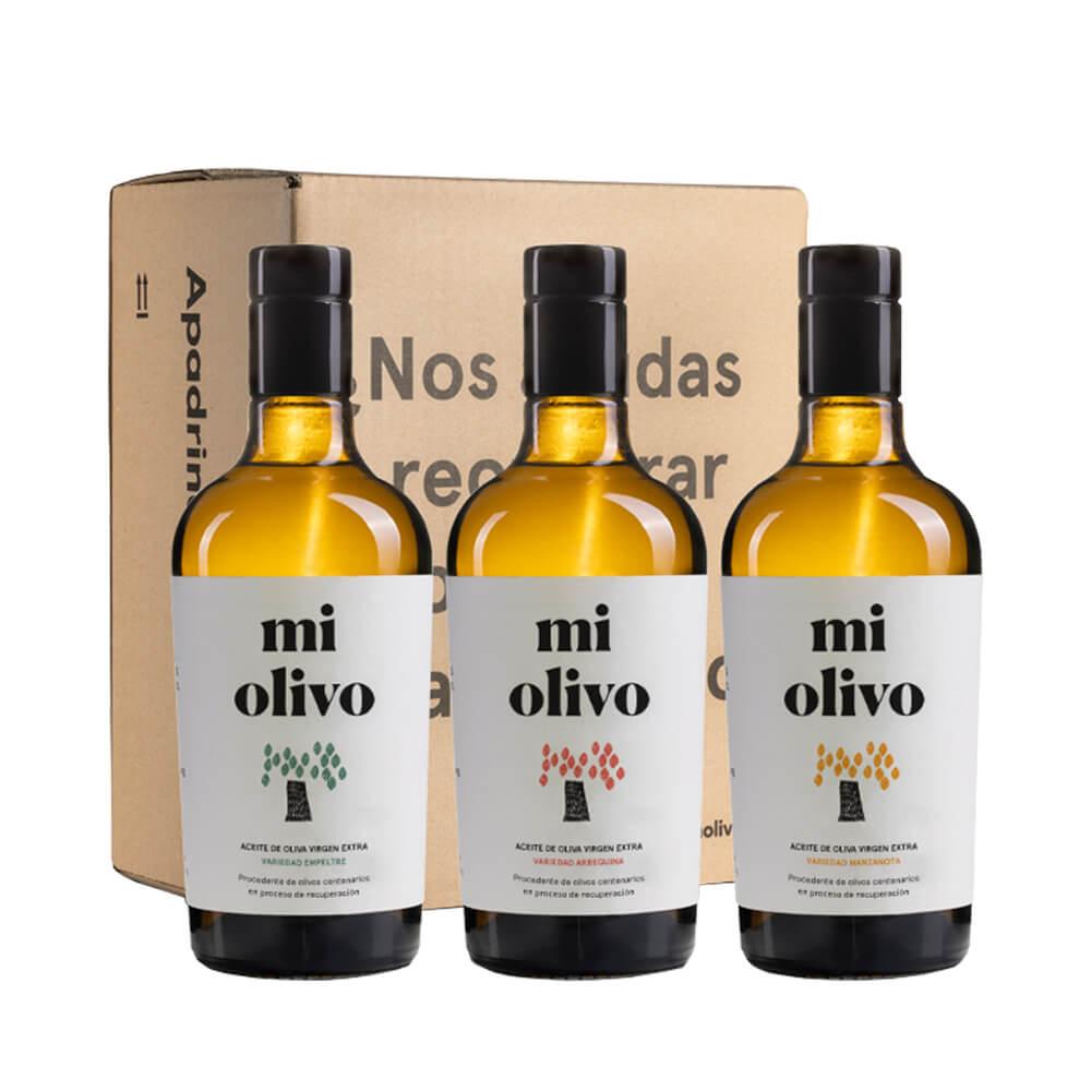 Degustación 3 variedades Aceite de Oliva Virgen Extra