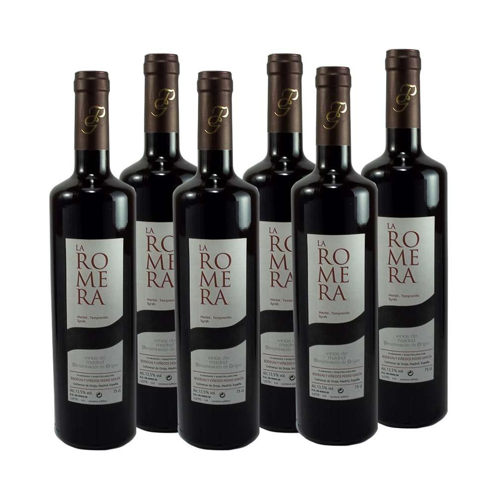 Vinto tinto joven La Romera de Bodegas y Viñedos Pedro García - 6 botellas 75 cl - Correos Market