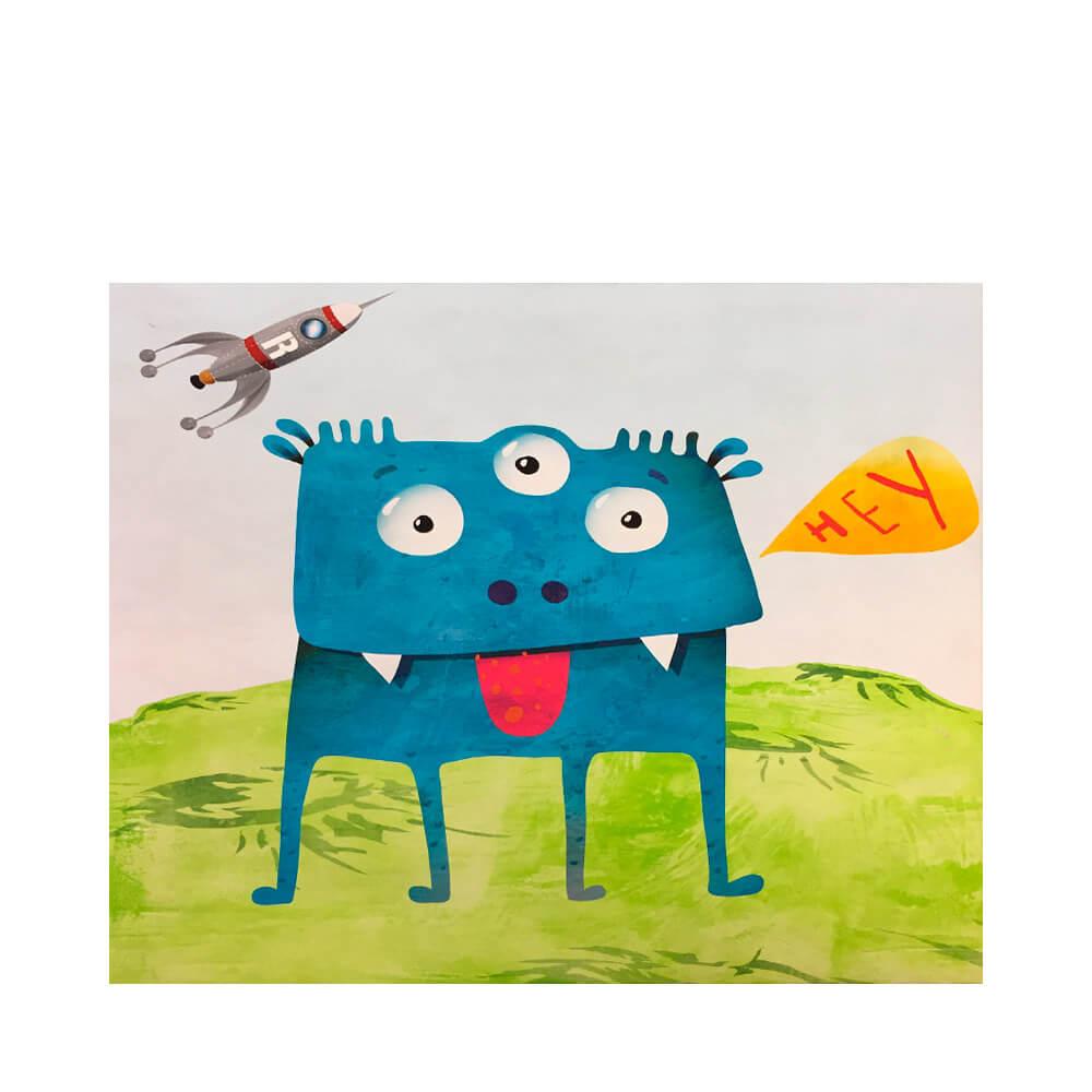 Monstruo Azul - Impresión sobre Lienzo