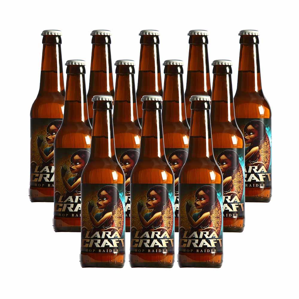 Pack 12 botellas Lara Craft - 33 cl