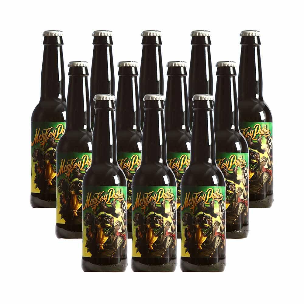 Pack 12 botellas Monkey Python - 33 cl