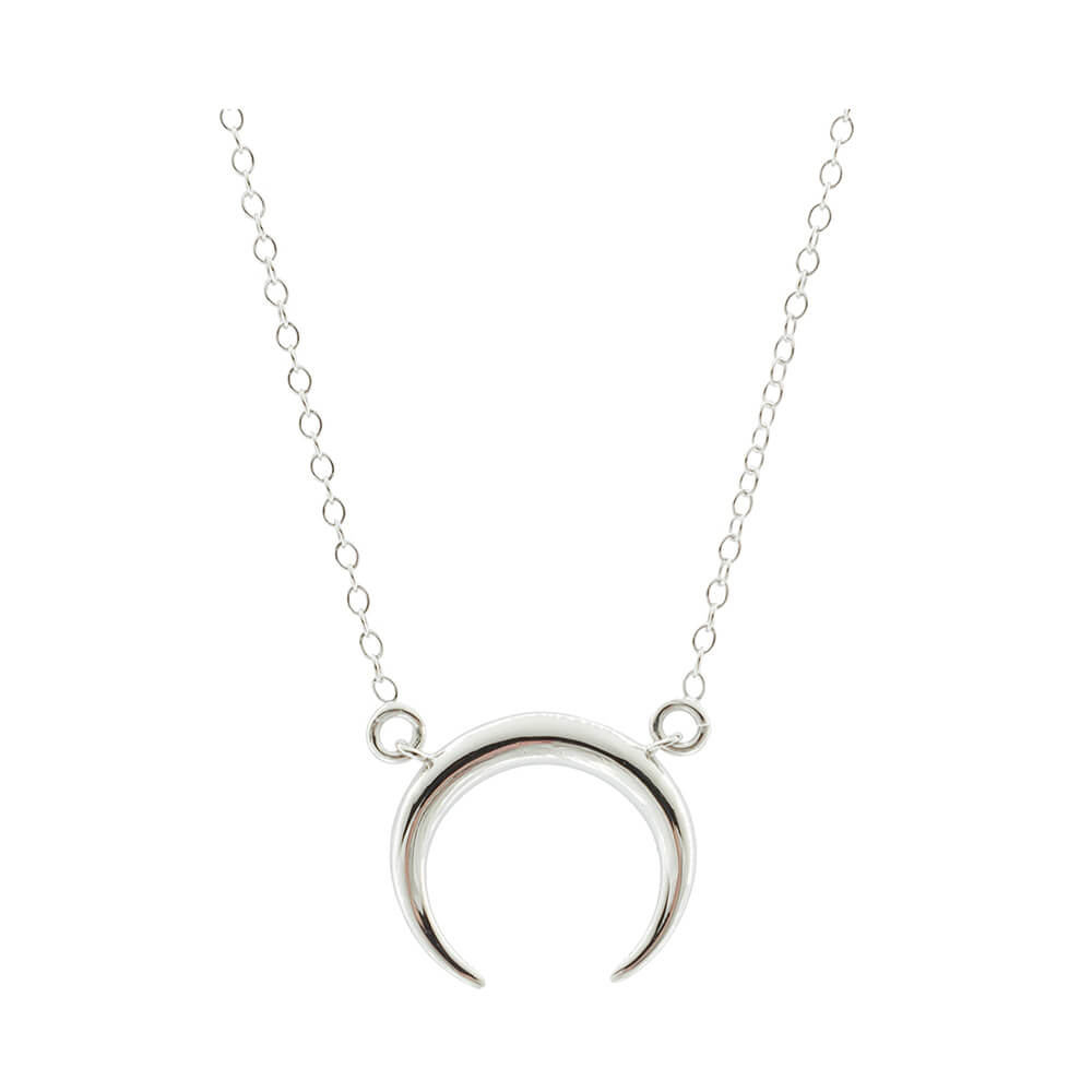 Platissima Silver Moon Necklace