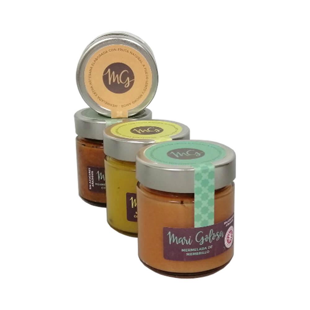 Cuídate con Mari Golosa - 4 tarros mermeladas sin azúcares añadidos 250 gr